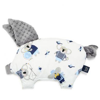 La Millou - Podusia do Wózka Sleepy Pig Hello World Grey