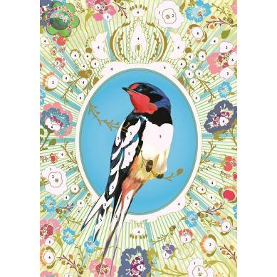 Djeco Zestaw Artystyczny Z Brokatem Ptak