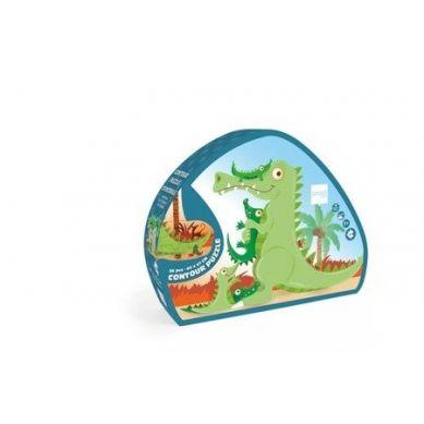 Scratch - Puzzle Konturowe Krokodyl 37 elem. 3+