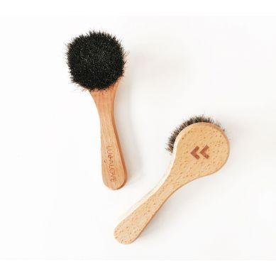 Lullalove - Szczotka do twarzy i szyi - naturalne włosie