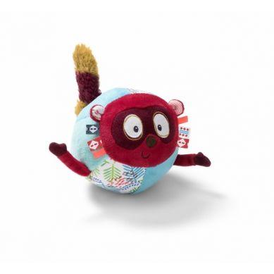 Lilliputiens - Materiałowa Piłka z Dzwoneczkiem Lemur Georges 6m+
