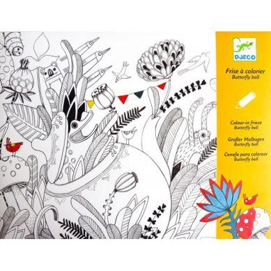 Djeco - Kolorowanki z Niespodzianką Motyle