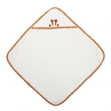 Childhome - Ręcznik z Kapturkiem z Myjką Jersey Crochet