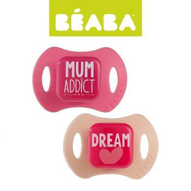Beaba - Zestaw Ortodontycznych Smoczków 2 szt. 0-6m Pink