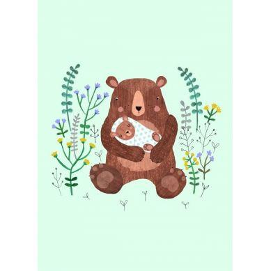 Petit Monkey - Pocztówka/Kartka na Życzenia Mother&Baby Bear