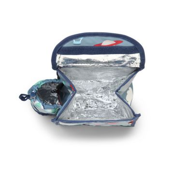 Penny Scallan - Plecak Lunchbox z Osobną Kieszonką na Picie Niebieski w Małpki