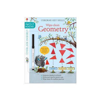 Wydawnictwo Usborne Publishing - Wipe clean geometry 8-9