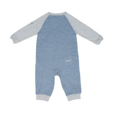 Juddlies - Pajacyk Organic Raglan Blue NB 0-1m