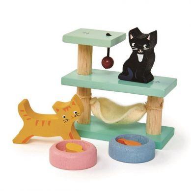 Tender Leaf Toys - Drewniane Figurki do Zabawy Kotki 3+