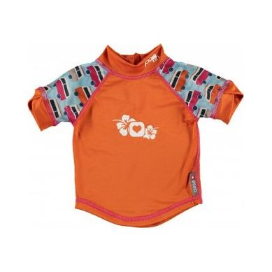 Close - Koszulka do Pływania UPF50+  BLUE/ORANGE Campervan S 6-12 miesięcy