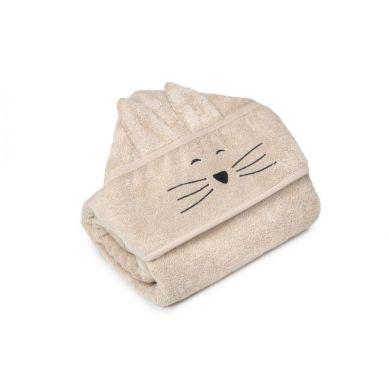 My Memi -   Bambusowy duży ręcznik beige - cat