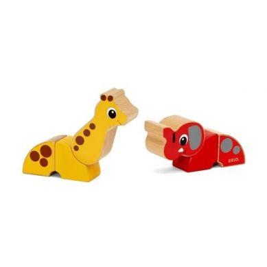 BRIO - Klocki Magnetyczne Słoń i Żyrafa
