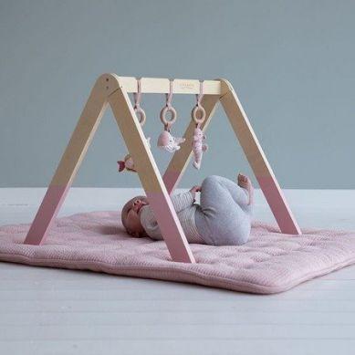 Little Dutch - Pałąk Baby Gym Ocean Róż 0m+