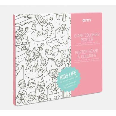 Omy - Kolorowanka Kids Life 100x70cm
