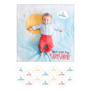 Lulujo -  Zestaw Kocyk + Karty You Are My Sunshine