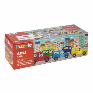 Apli Kids - Puzzle do Nauki Dodawania Autka 5+