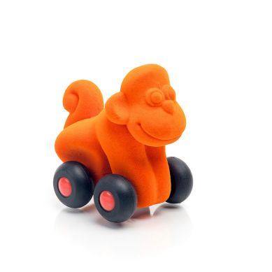 Rubbabu - Małpka Pojazd Sensoryczny Pomarańczowy Mikro