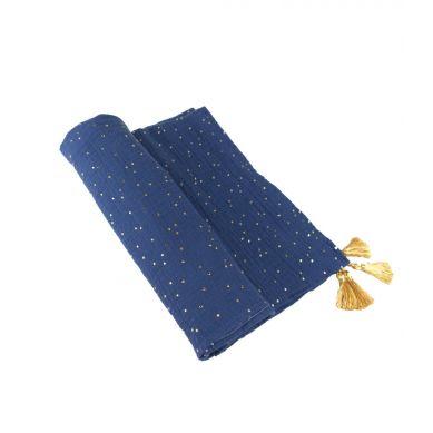 Muzpony - Otulacz Muślinowy z Chowstami 110x120cm Blink Blue