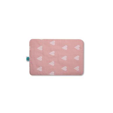 Pink no More - Płaska Poduszeczka Muślinowo-bambusowa Serca Róż