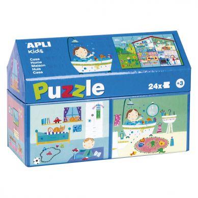 Apli Kids - Puzzle w Kartonowym Domku W Domu 3+
