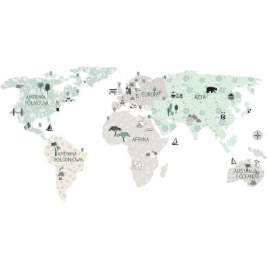 Pastelowelove - Naklejka na Ścianę Mapa Tropic Sand L 195x100 cm