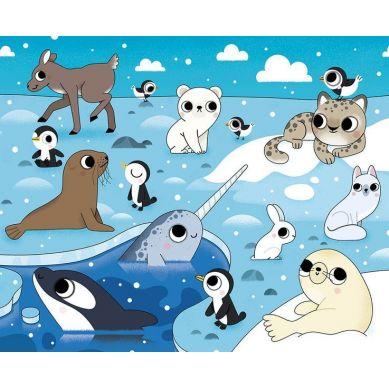 Auzou - Kolorowanka wodna Zwierzęta świata 4+