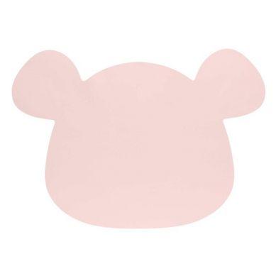 Lassig - Silikonowa Mata Podkładka Little Chums Mysz Różowa