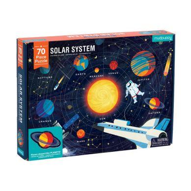 Mudpuppy - Puzzle Układ Słoneczny z Elementami w Kształcie Planet