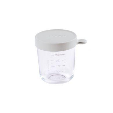 Beaba - Pojemnik słoiczek szklany z hermetycznym zamknięciem Light Mist 250ml