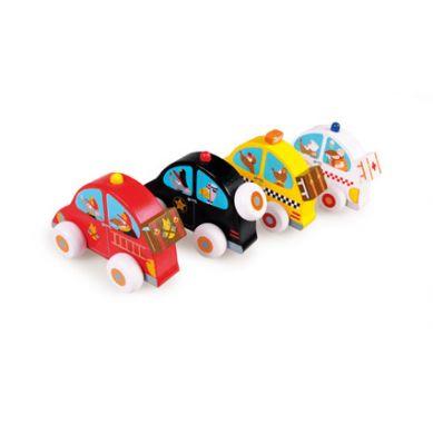 Scratch - Display 4 Samochodziki Drewniane
