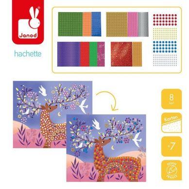 Janod - Zestaw Kreatywny Mozaika Fantastyczne stworzenia 7+