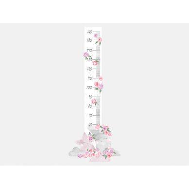 Pastelowelove - Naklejka na Ścianę Miarka Księżyc Różowy