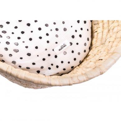 Malomi Kids - Prześcieradło Bamboo Dots do Gondoli / Kosza Mojżeszowego