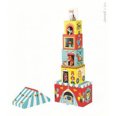 Janod - Piramida Wieża ze Zwierzątkami  Cyrk