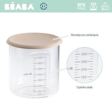 Beaba - Słoiczek z Hermetycznym Zamknięciem 420 ml Nude