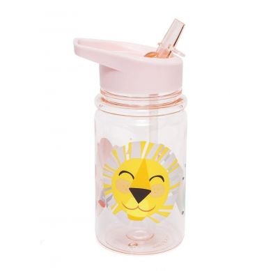 Petit Monkey - Butelka z Rurką Shiny Lion Pink