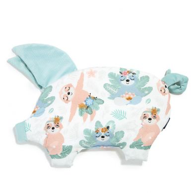 La Millou - Podusia do Wózka Sleepy Pig Velvet Collection Yoga Candy Sloths Audrey Mint