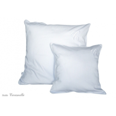 Caramella - Duża Poduszka Biało-błękitna