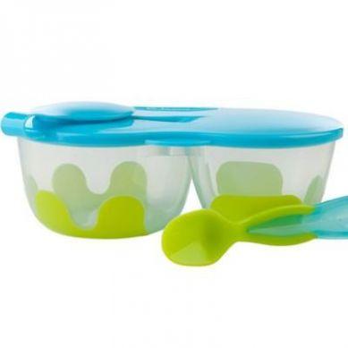 B. Box - Podwójny Pojemnik na Żywność Zielono Niebieski