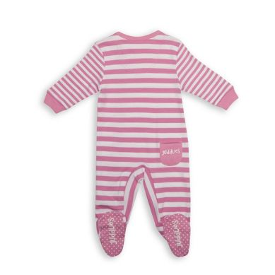 Juddlies - Pajacyk Sachet Pink Stripe 6-12m