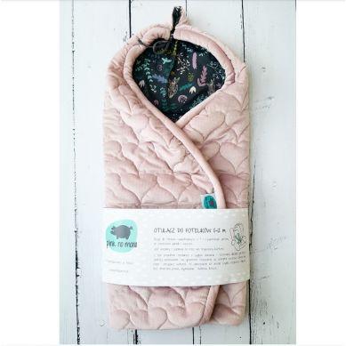 Pink no More - Otulacz Do Fotelika Pudrowy Róż&Botanic