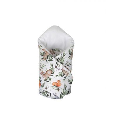 Muzpony - Dwustronny, Mięciutki Rożek Kocyk Leśne Zwierzątka