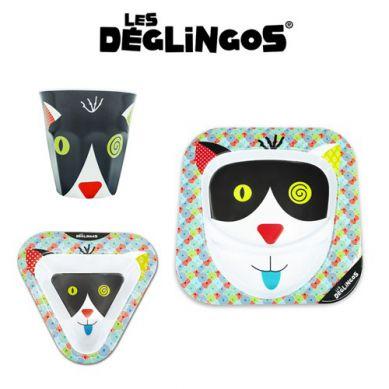 Les Deglingos - Zestaw 3 częściowy z Melaminy Kot Charlos