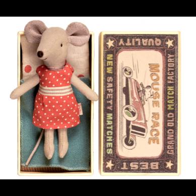 Maileg - Przytulanka Myszka Littlesister w Sukieneczce w Pudełeczku