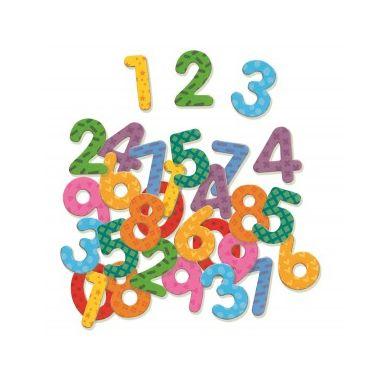 Djeco -  Kolorowe Cyferki Magnetyczne 38szt. 4+