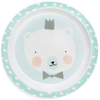 Petit Monkey- Talerz z Melaminy Polar Bear Mint