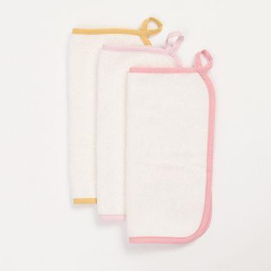 Bim Bla - Zestaw 3 Mini Ręczniczków różowy 30x30cm