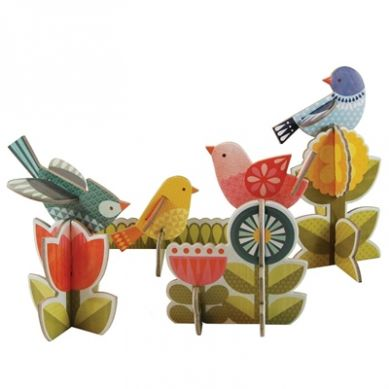 Petit Collage - Puzzle Przestrzenne Ptaki
