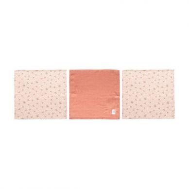 Bebe-Jou - Chusteczki Bambusowo-muślinowe 3szt Wish Pink 32x32cm