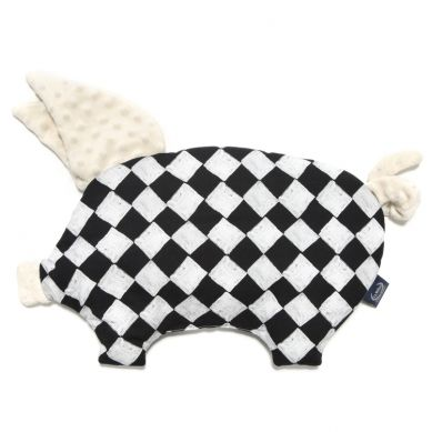 La Millou - Podusia do Wózka Sleepy Pig Peguin Follow Me Chessboard Ecru